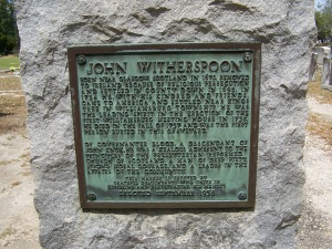 John Witherspoon plaque