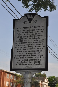 Williamsburg Church Marker